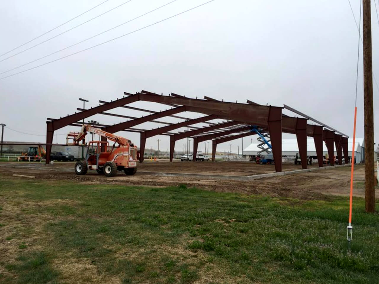 Cheyenne County Pavilion being built